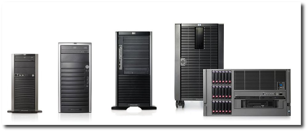 Gamme des serveurs HP proposés en 2007/2008
